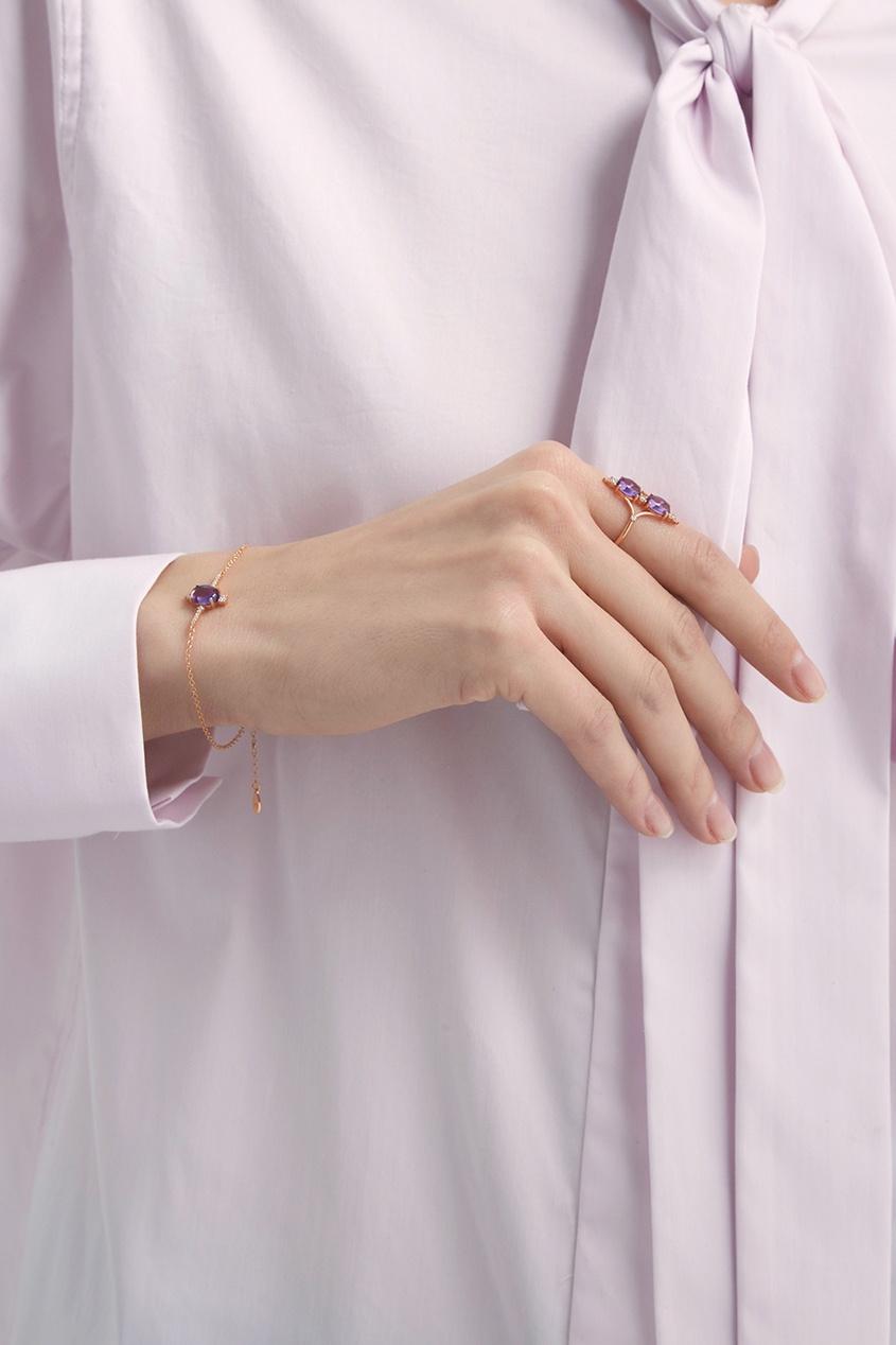 Позолоченный браслет с аметистом