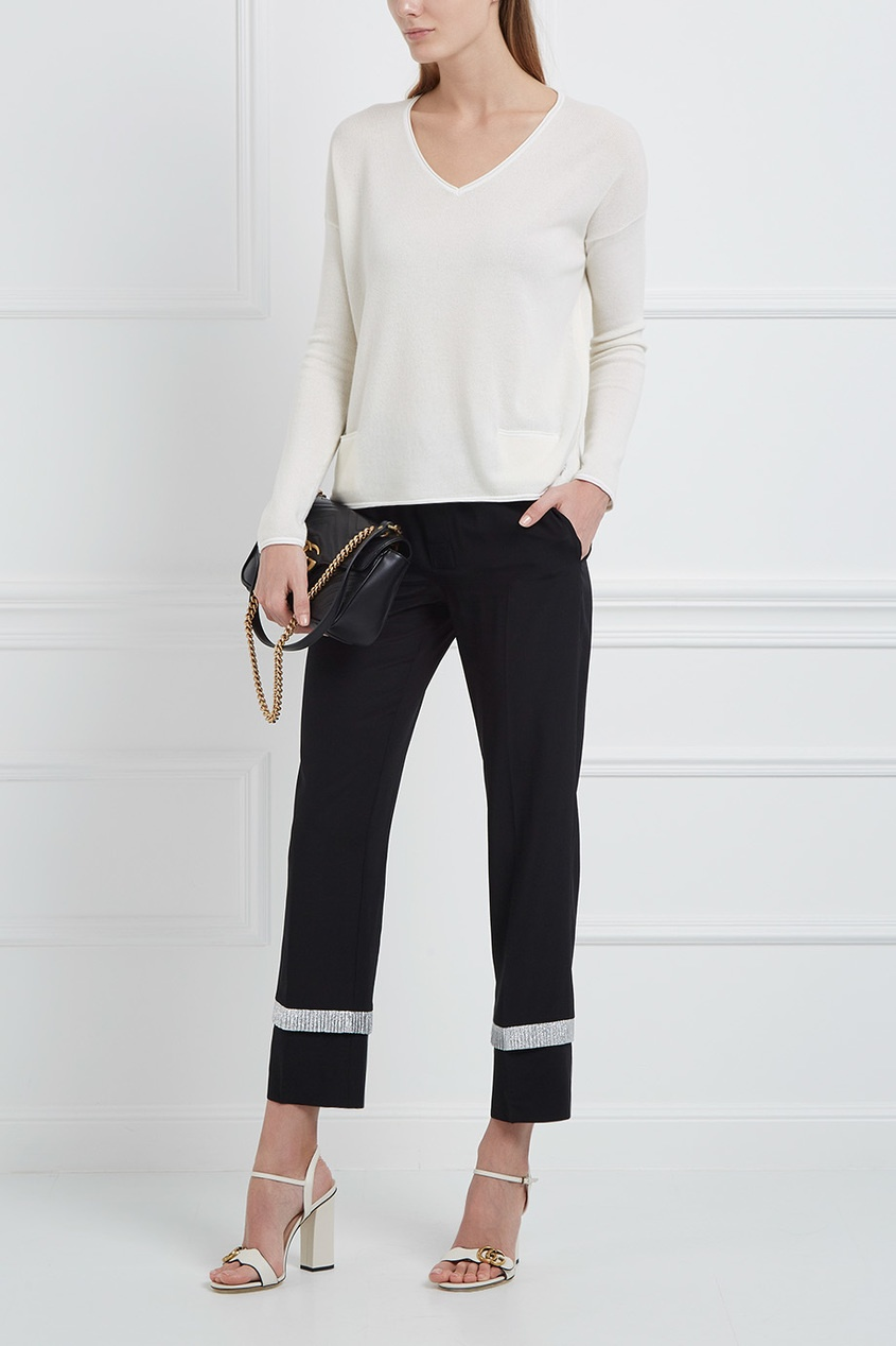 Пуловер из кашемира и шелка