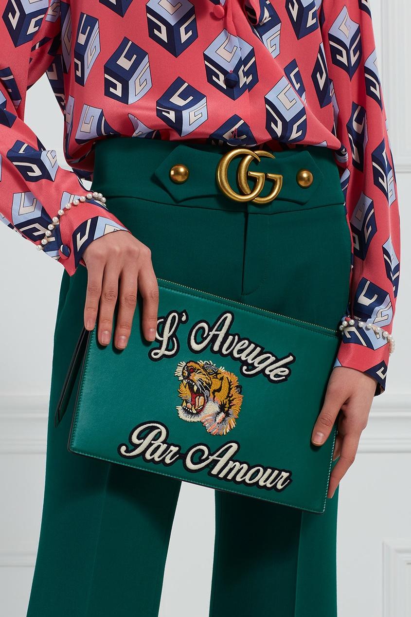 Кожаный клатч L'Aveugle par Amour