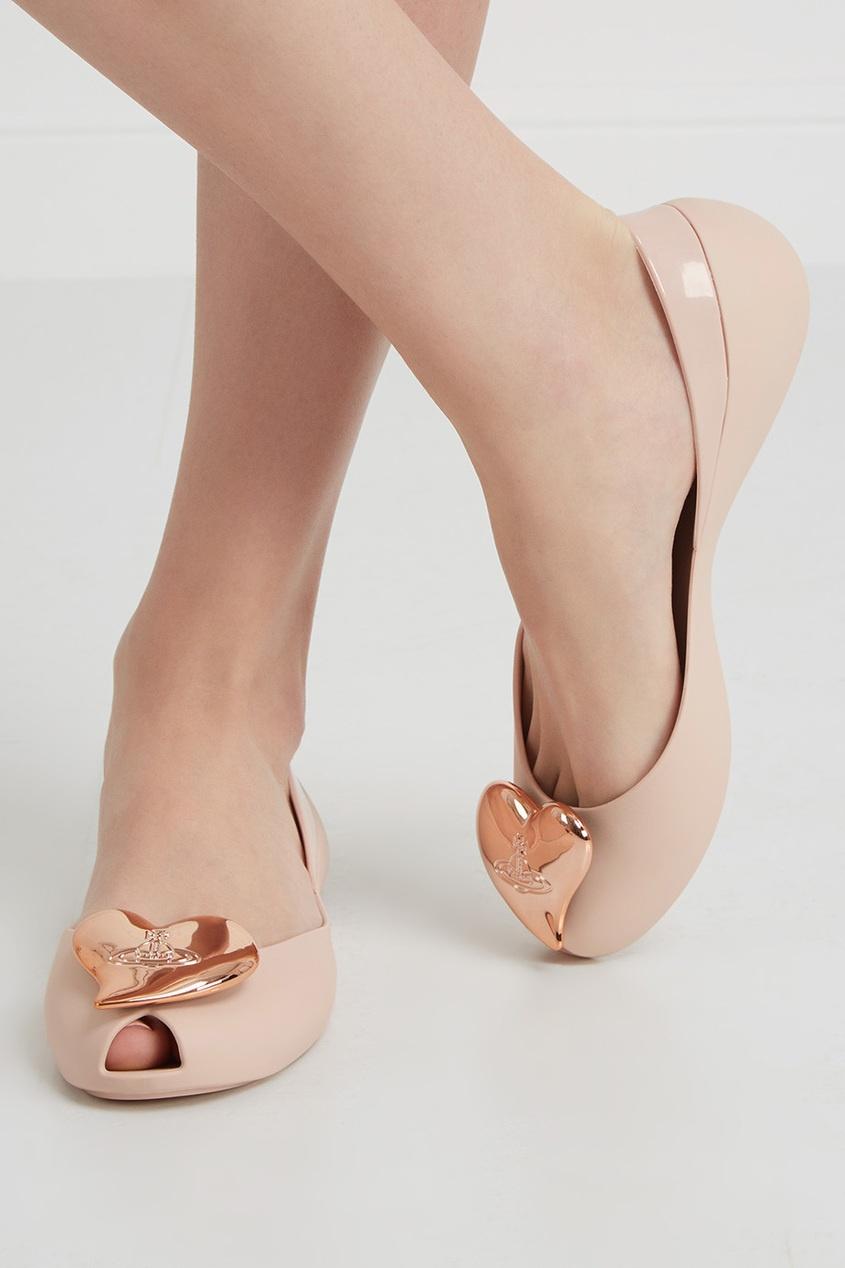 Однотонные балетки