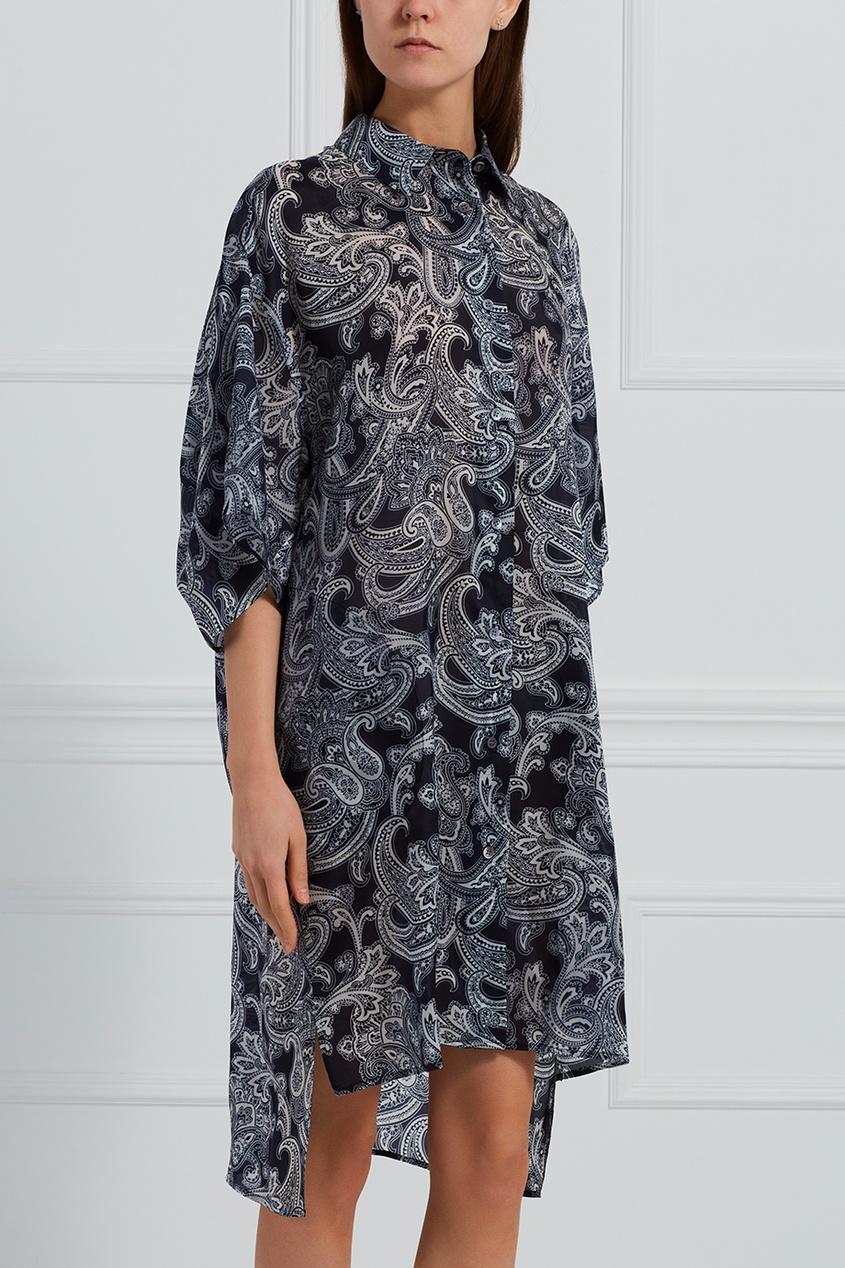 Комбинированное платье-рубашка
