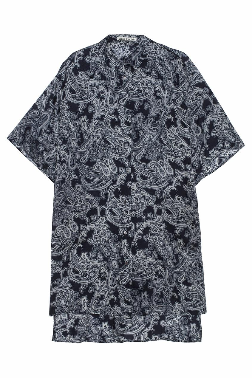 Платье-рубашка с узором пейсли