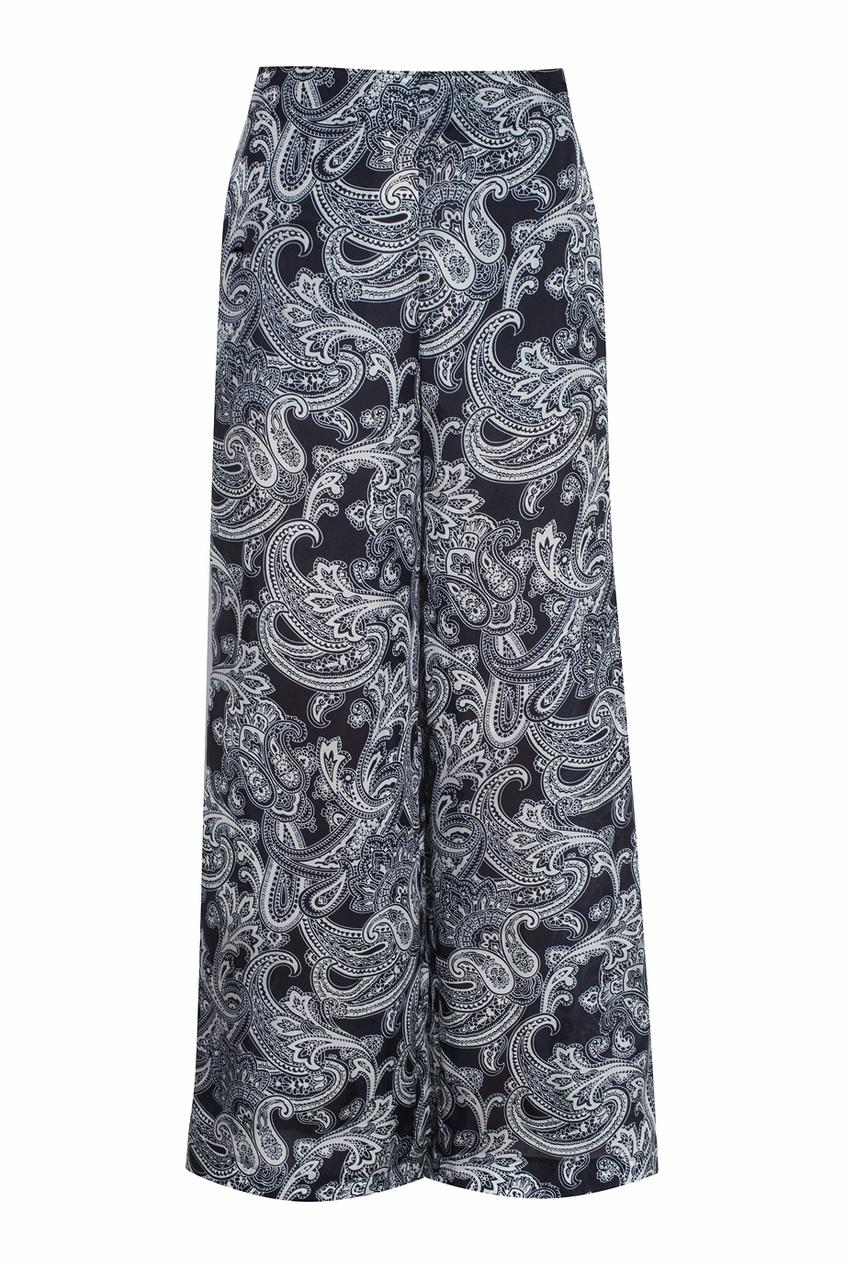 Широкие брюки с узором пейсли