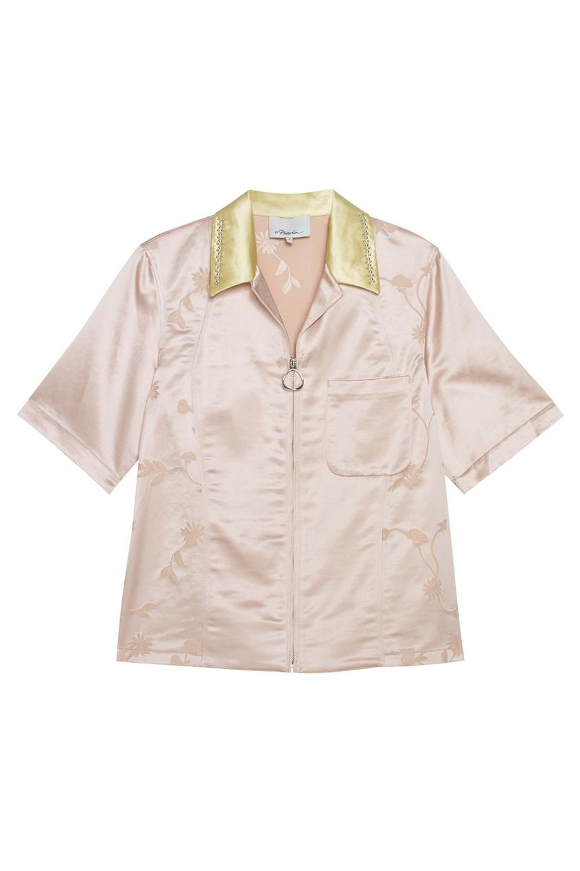 Блузка с контрастным воротником