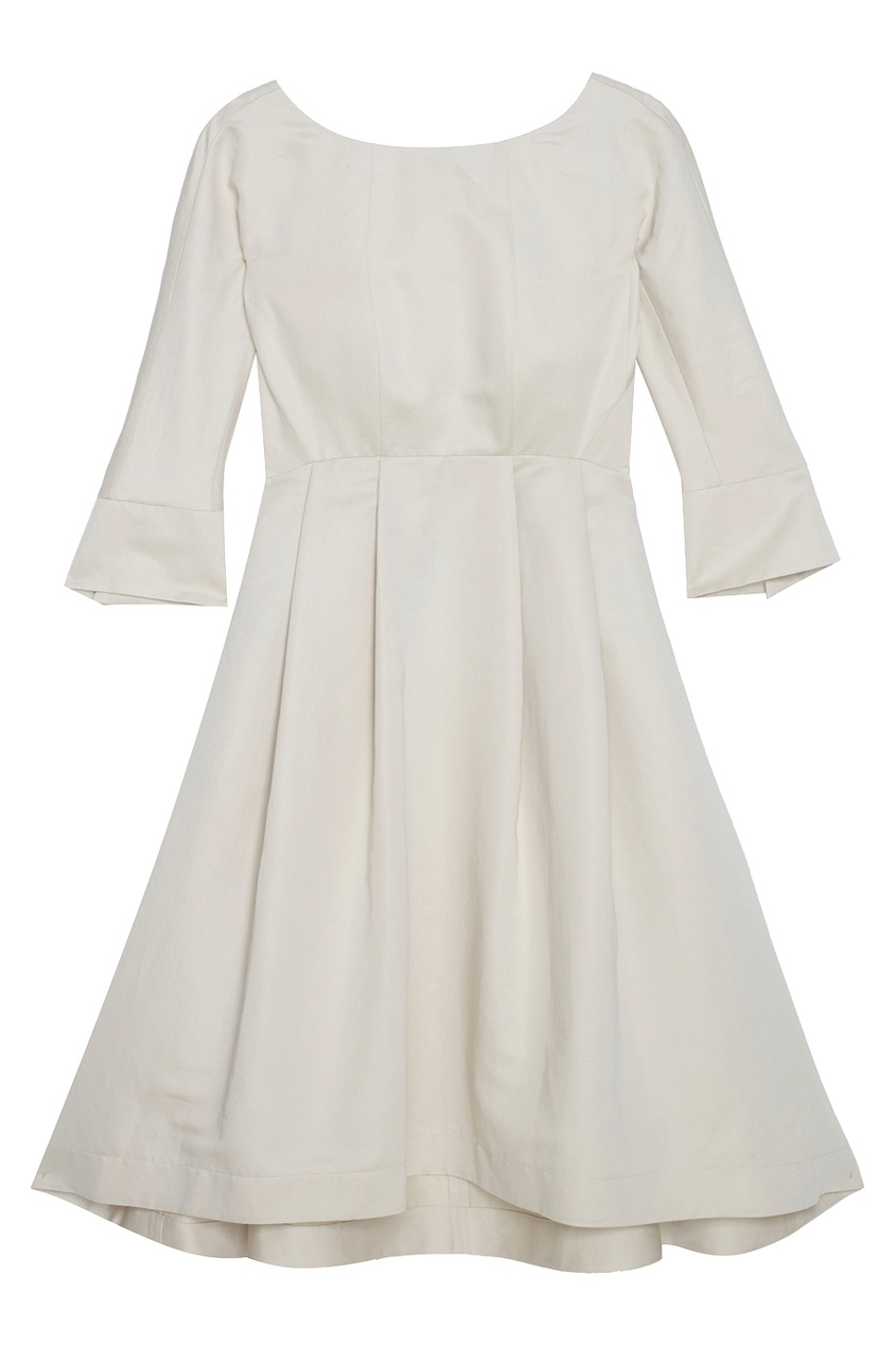 Платье из хлопка и льна.