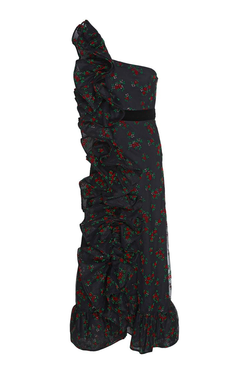 Gucci Асимметричное платье gucci длинное платье
