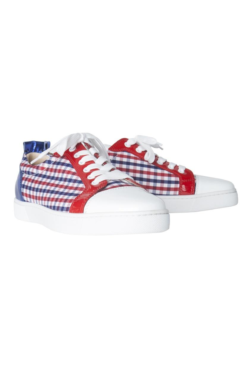 Кожаные ботинки Louis Junior Flat Patent/Vichy Fabric/Specchio
