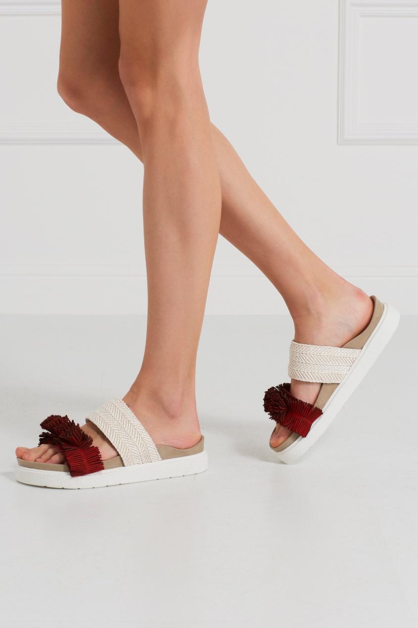 Комбинированные сандалии