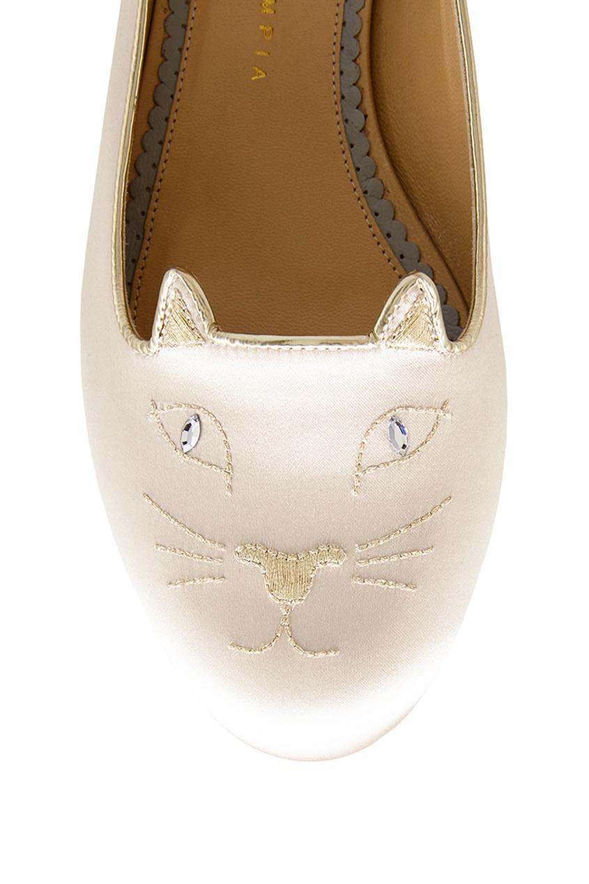 Купить со скидкой Атласные балетки Kitty Flats