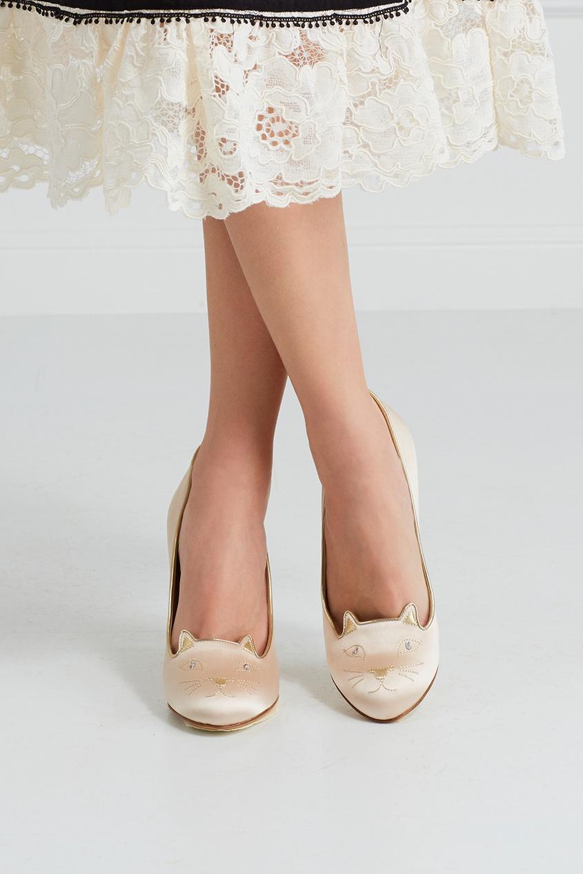 Атласные туфли Kitty