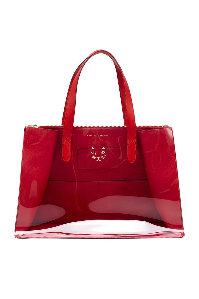Charlotte Olympia Кожаная сумка-шопер Presley