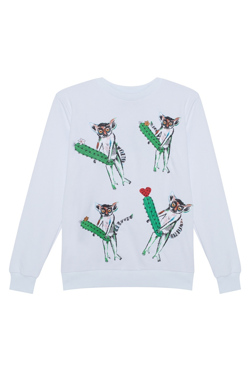 KATЯ DOBRЯKOVA Хлопковый свитшот Four Lemurs