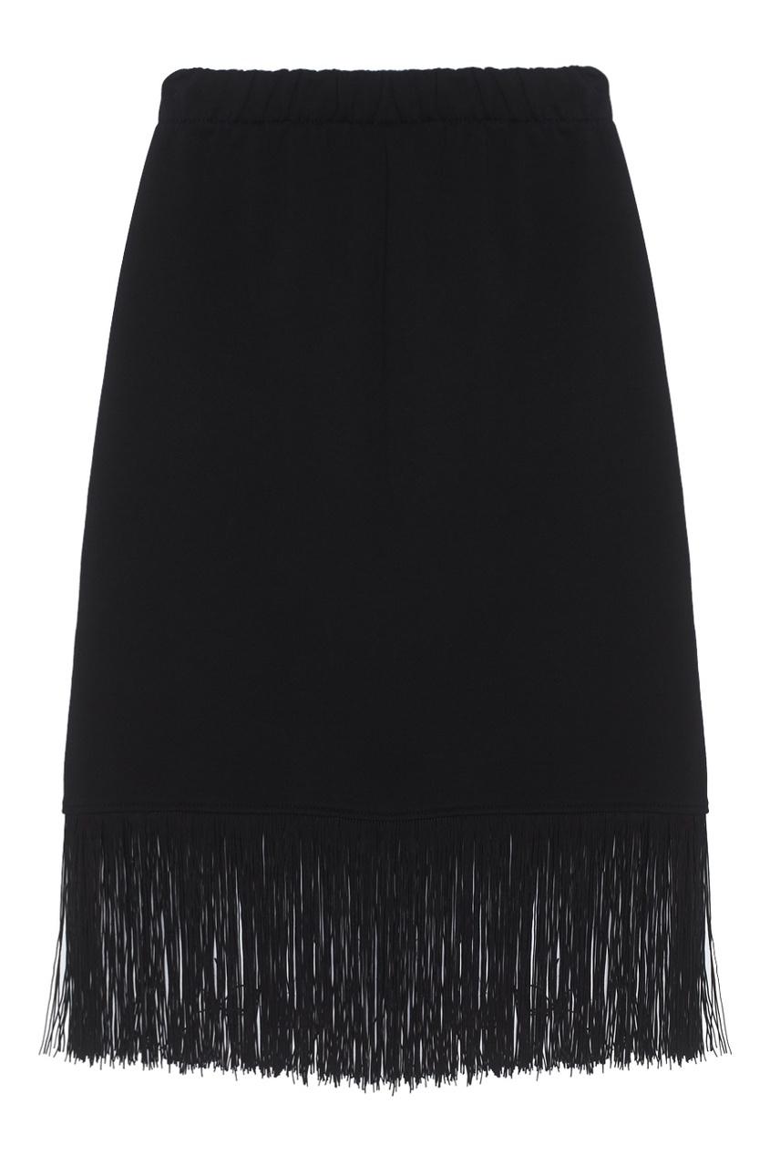 Хлопковая юбка Fringe Basic Skirt