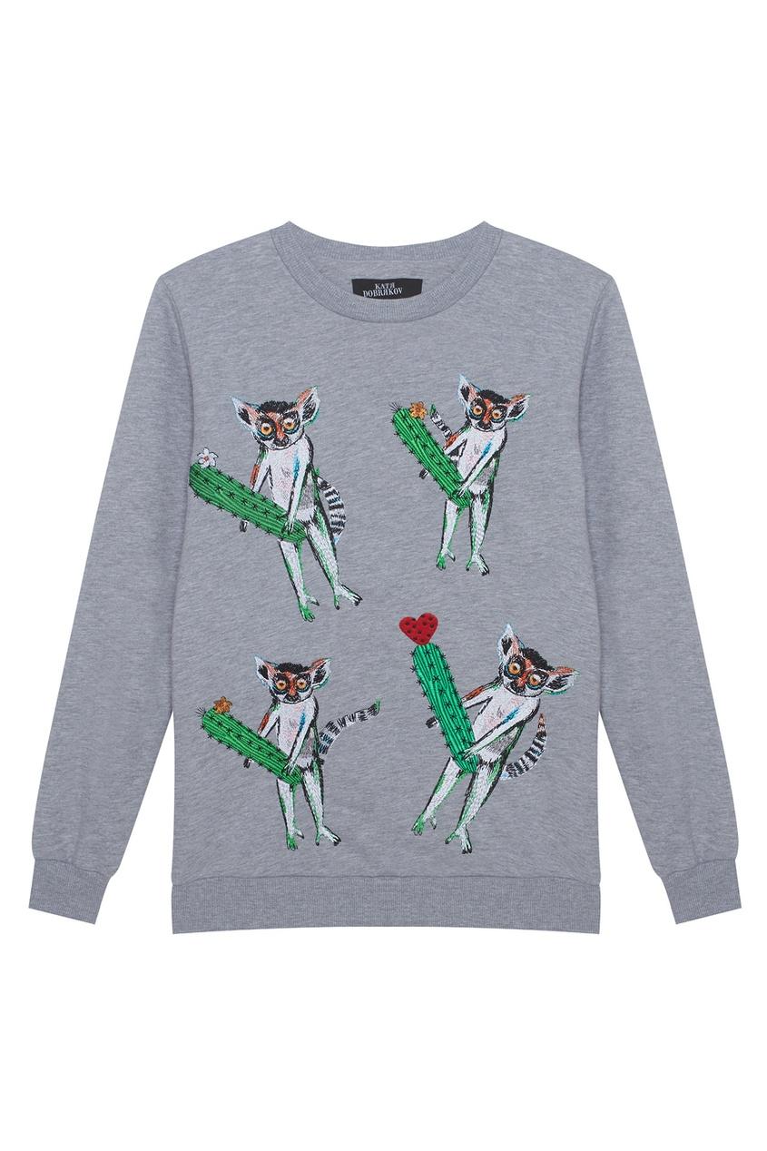 Хлопковый свитшот Four Lemurs