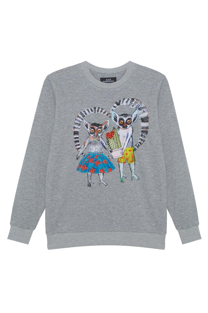Хлопковый свитшот Lemurs In Love