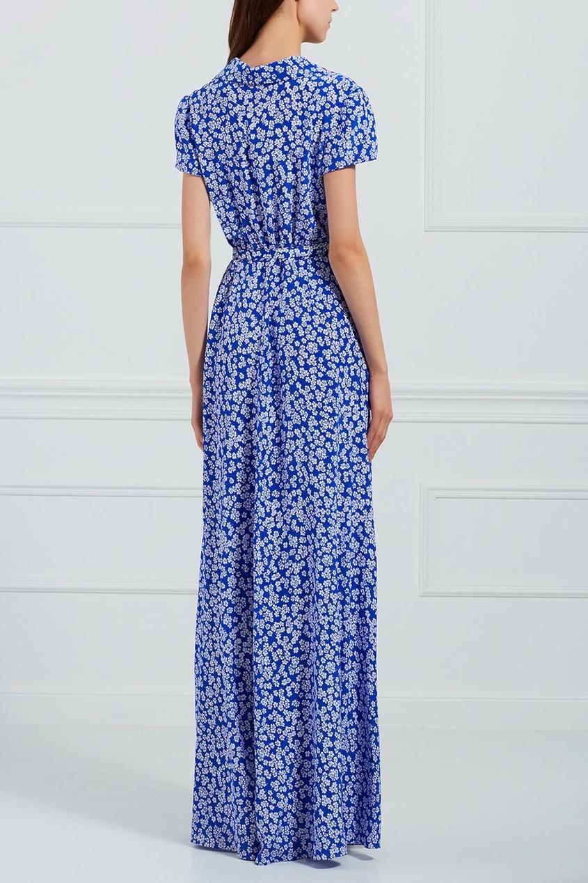 Шелковое платье-рубашка