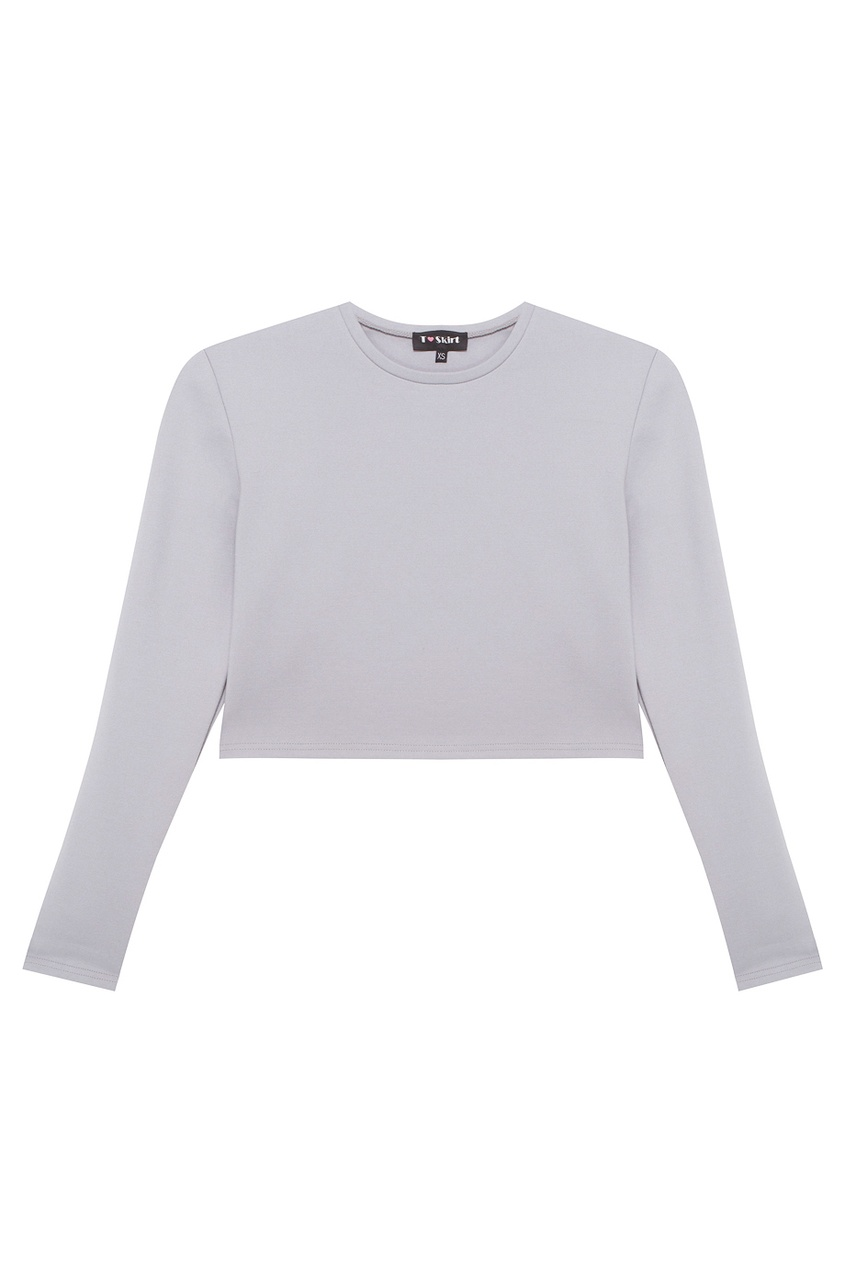 цены T-Skirt Кроп-топ серый светлый