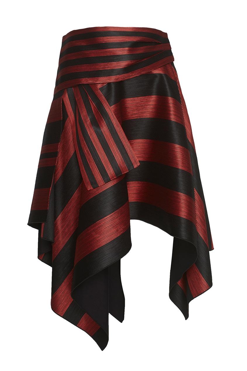 Proenza Schouler Фактурная асимметричная юбка асимметричная юбка с запахом thomas wylde асимметричная юбка с запахом