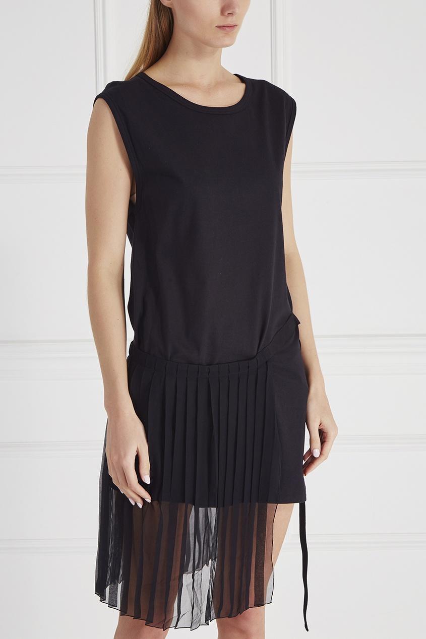 Платье из хлопка и шелка