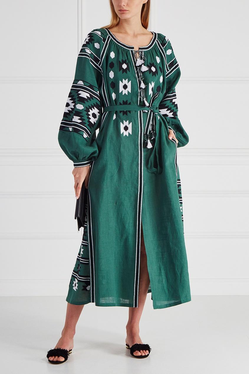 Льняное платье Kilim