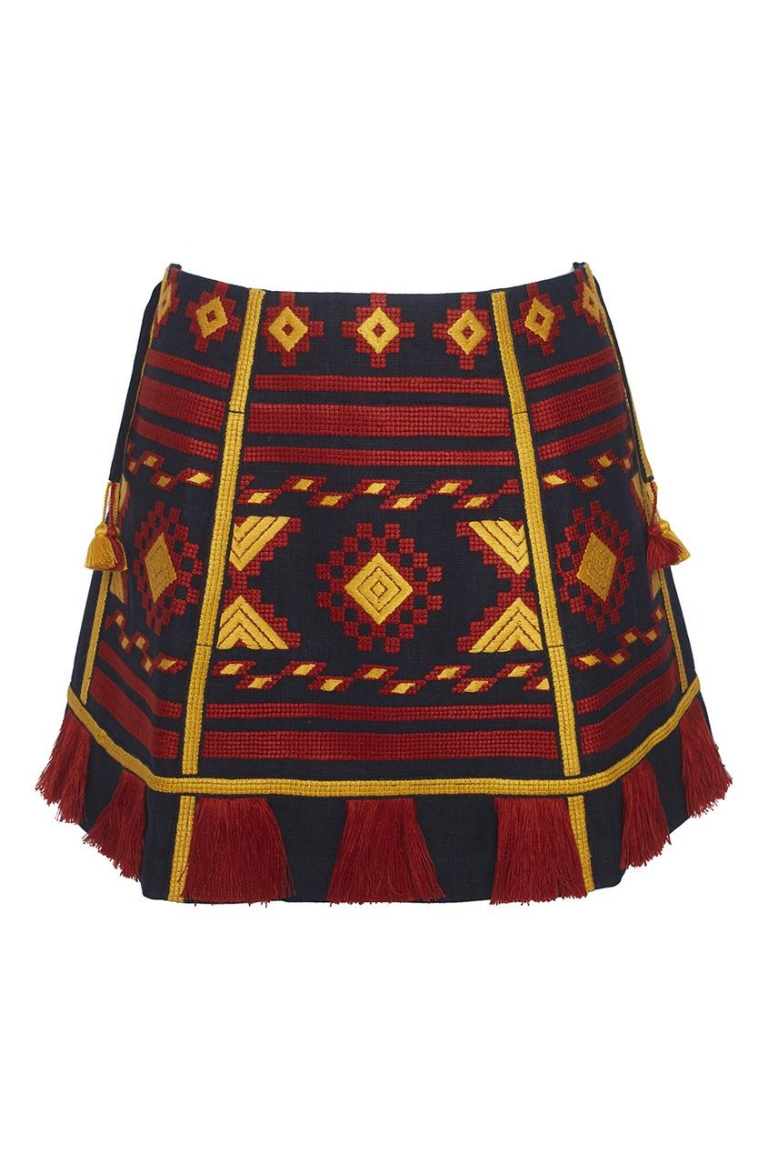 Vita Kin Льняная юбка-мини Croatia