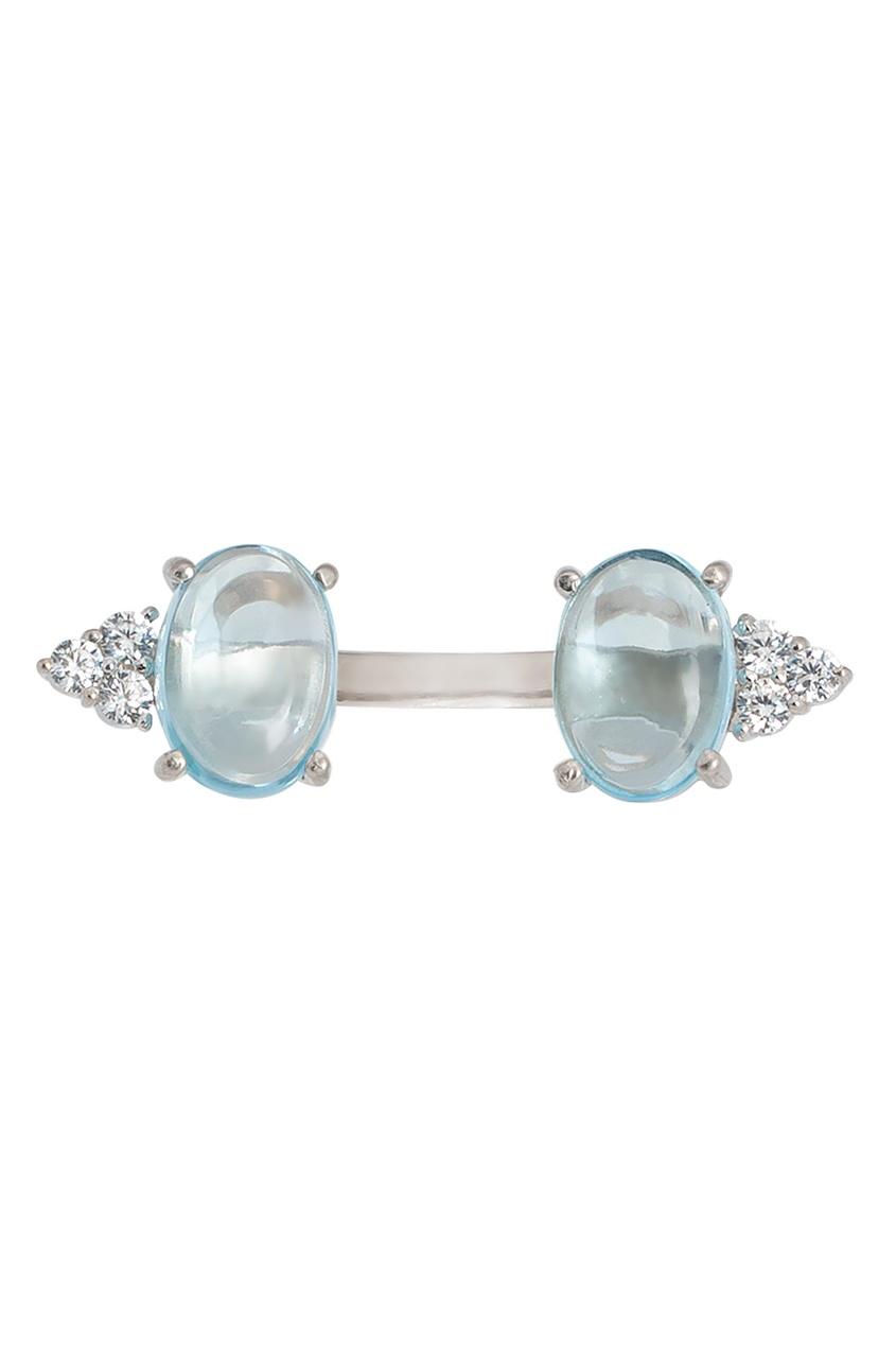 Moonka Studio Серебряное кольцо с топазами