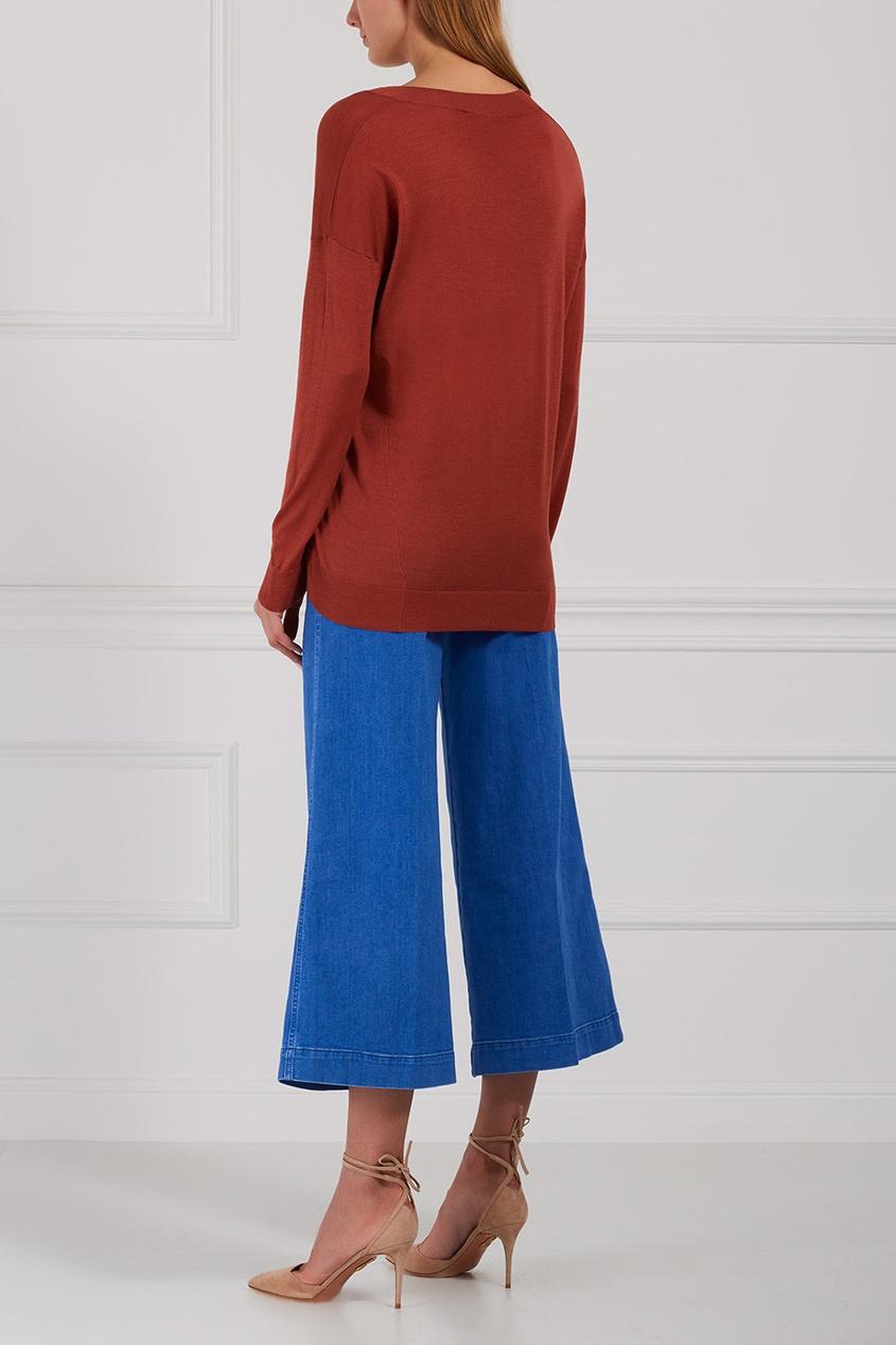 Stella McCartney Пуловер из шерсти и шелка