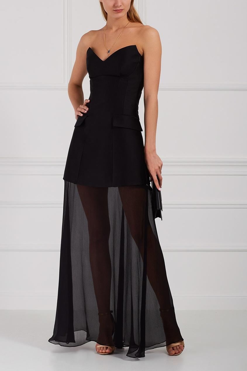 Stella McCartney Платье из хлопка и шелка