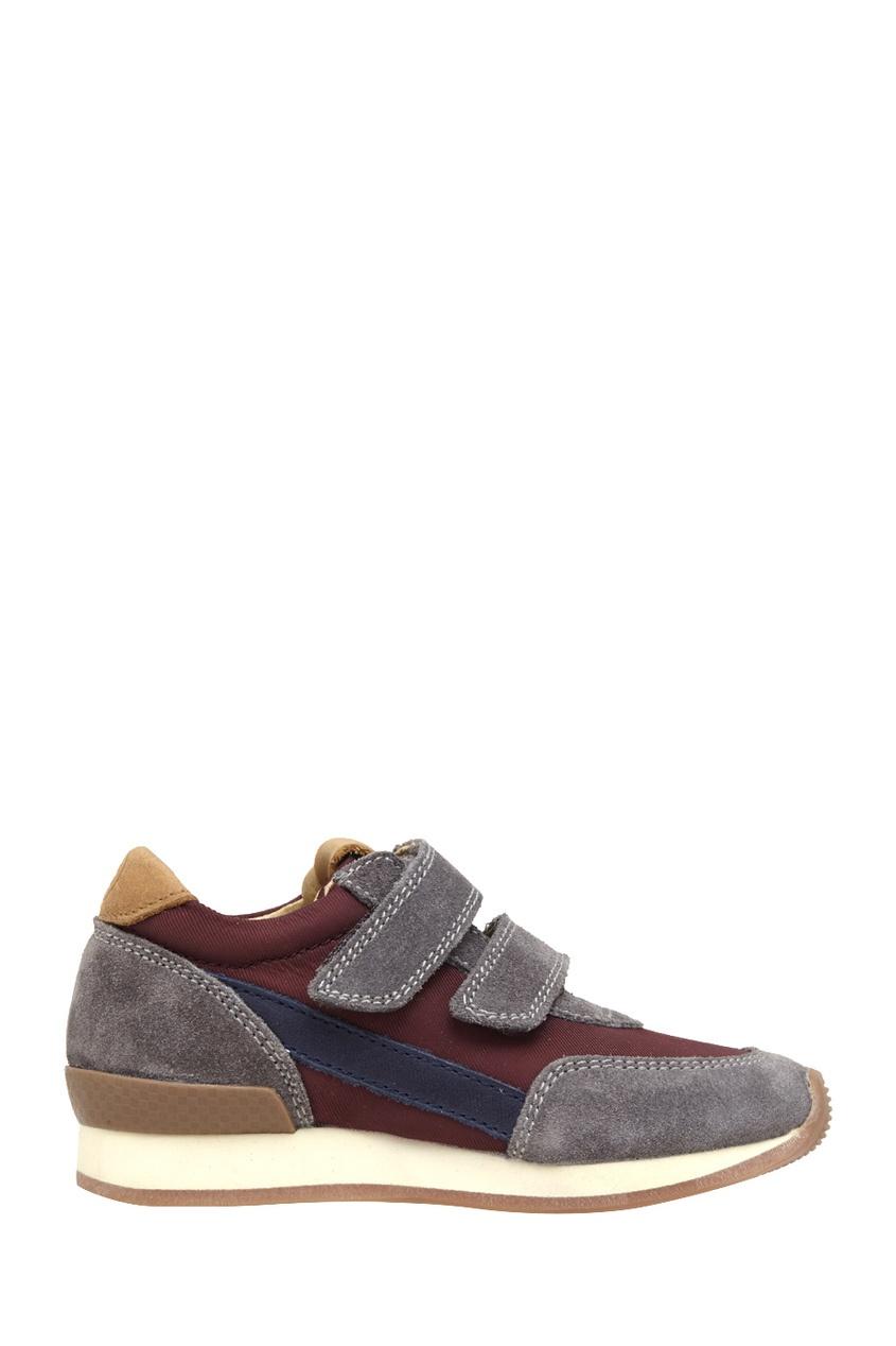 Кроссовки из замши и текстиля Ten Jog Line