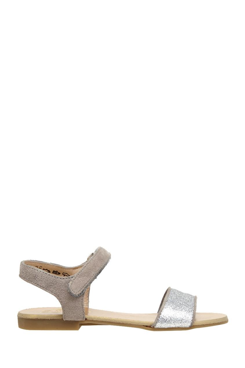Сандалии из кожи и замши Flip Velcro