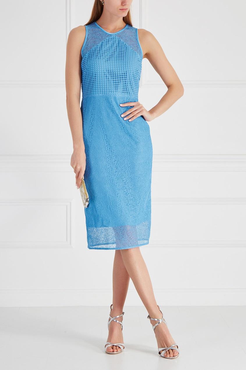 Однотонное платье-футляр