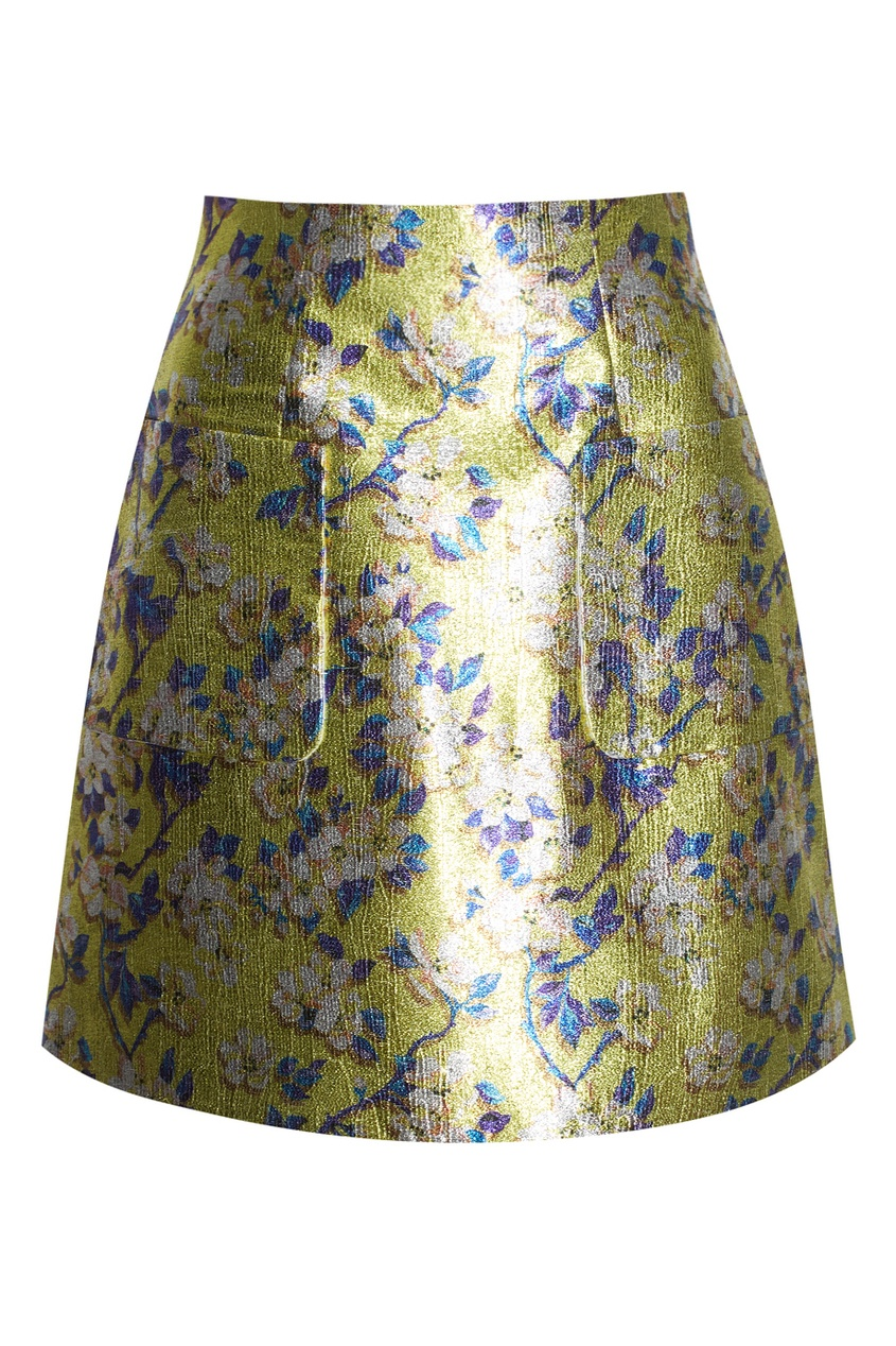 Жаккардовая юбка с цветами
