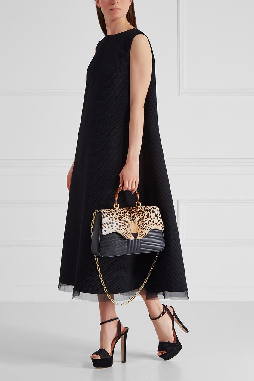 Кожаная сумка Leopard