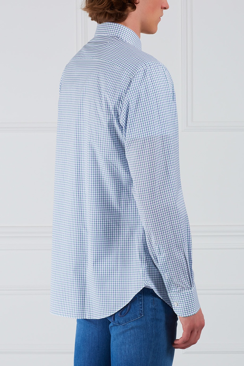 BRIONI Хлопковая рубашка brioni спортивный костюм от brioni 72536