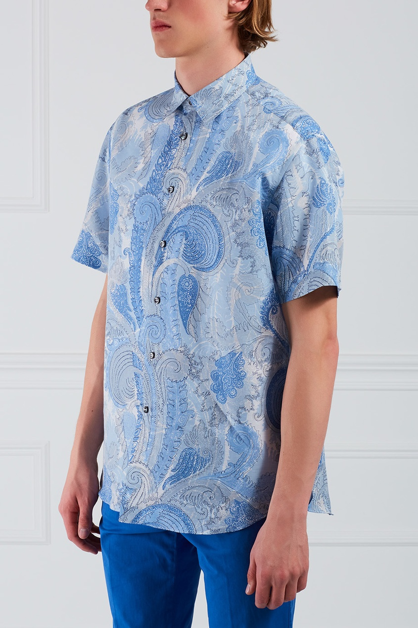 BRIONI Рубашка из хлопка и льна brioni спортивный костюм от brioni 72536