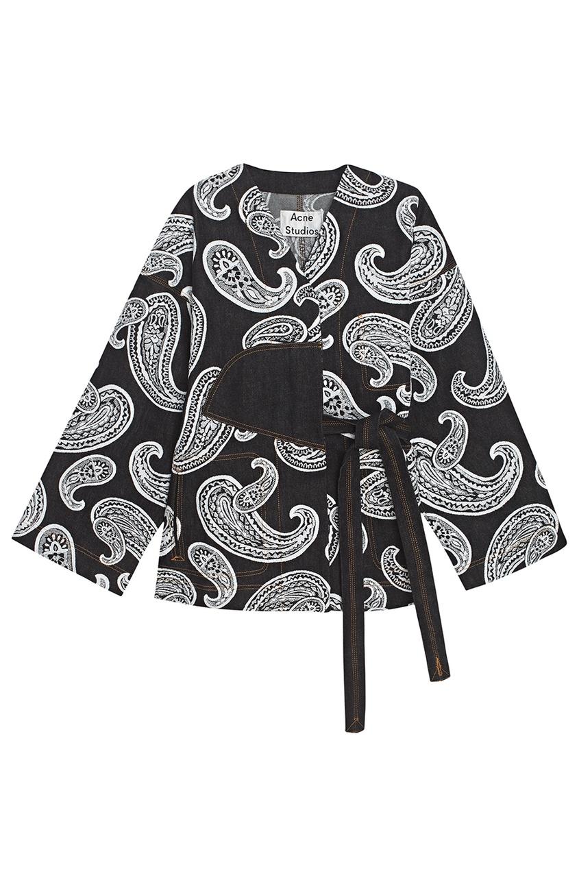 Жакет-кимоно с узором пейсли