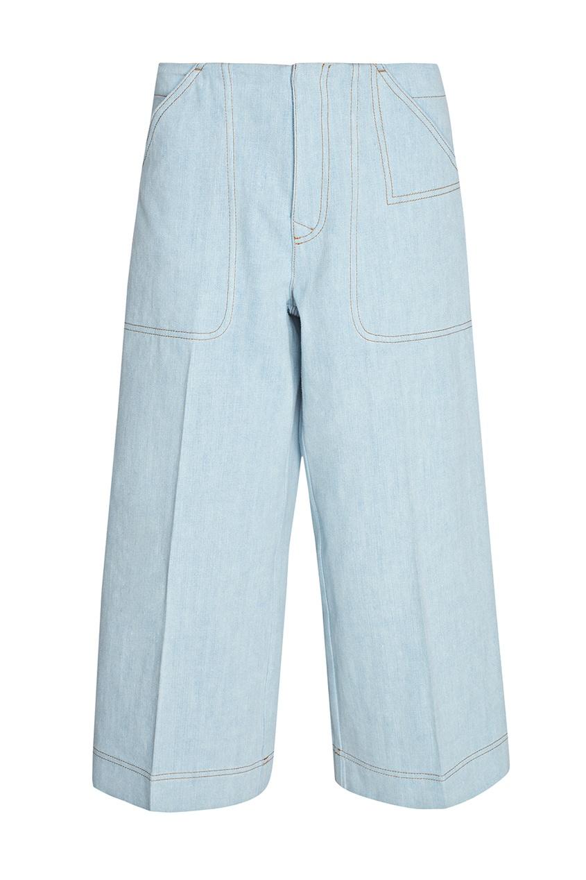 Укороченные брюки из хлопка