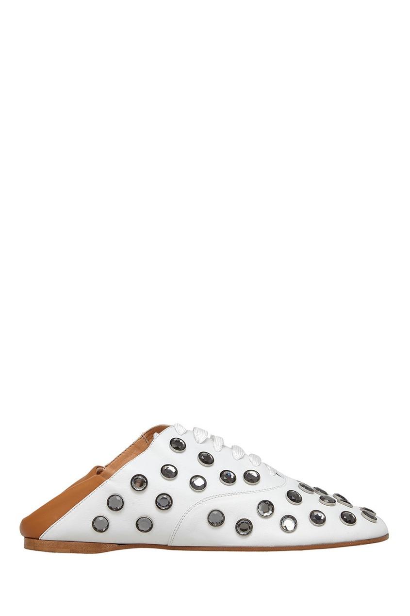 Открытые туфли с отделкой