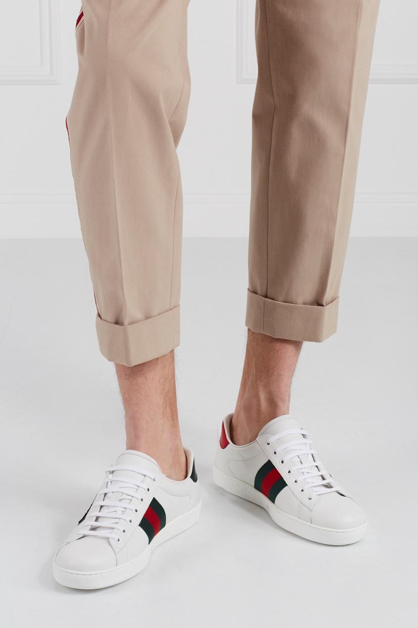 Gucci Кожаные кеды