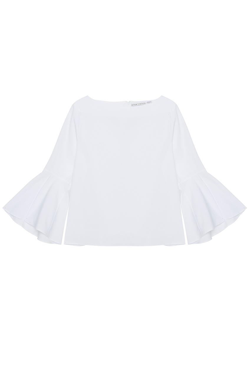 женская блузка alice + olivia, белая
