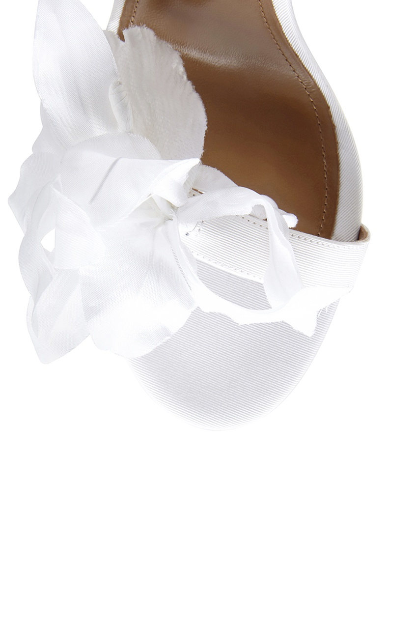Босоножки из кожи и сатина Flora Sandal Bridal 105
