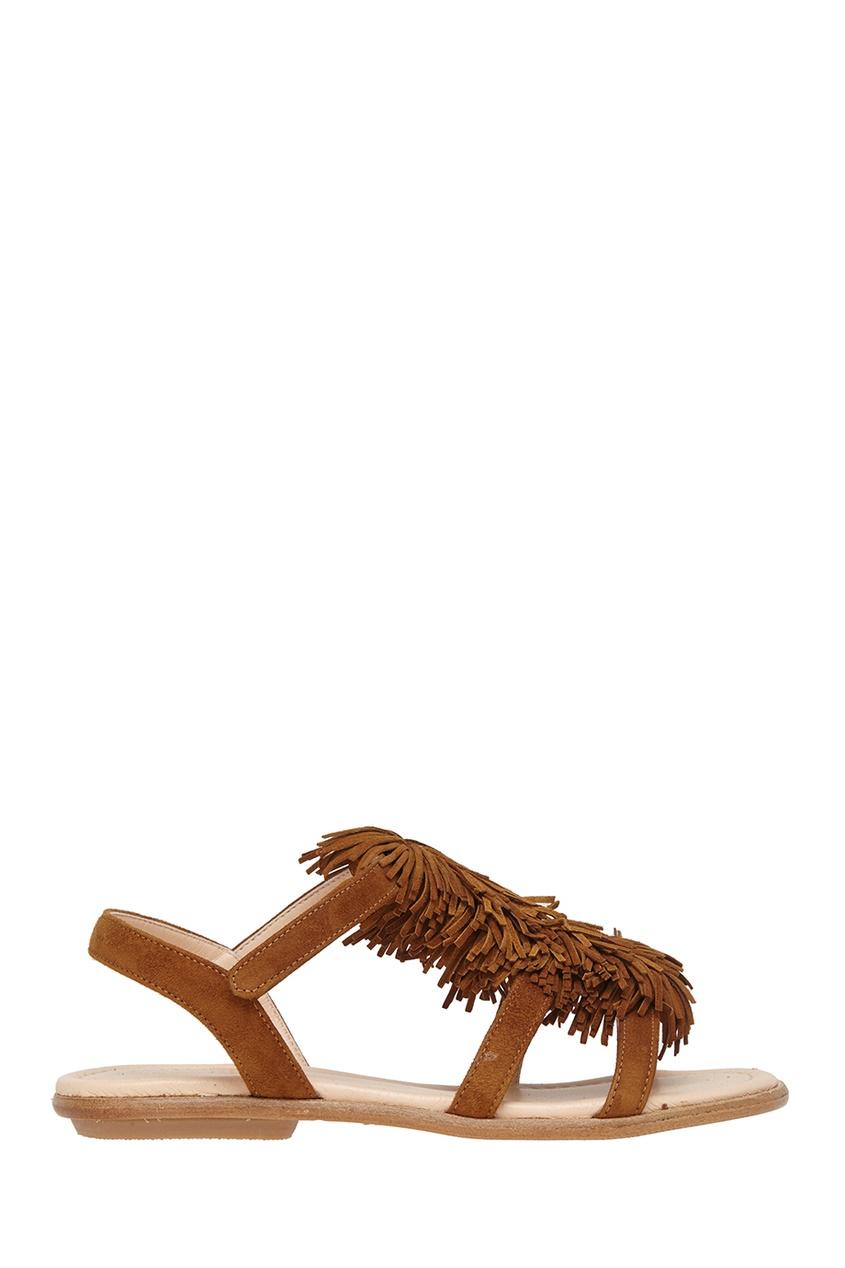 Aquazzura Children Замшевые сандалии Wild Sandal Mini коньячный набор