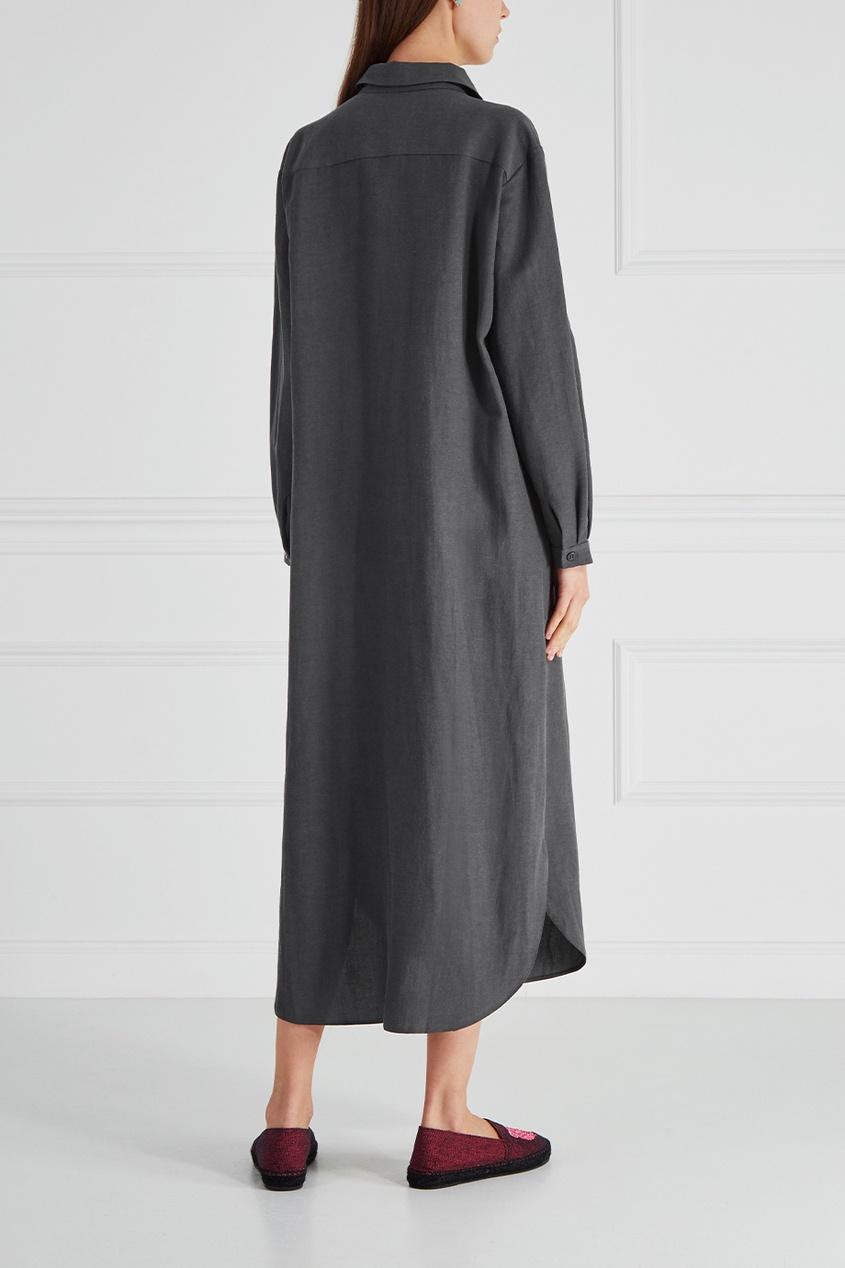 Платье из хлопка и льна