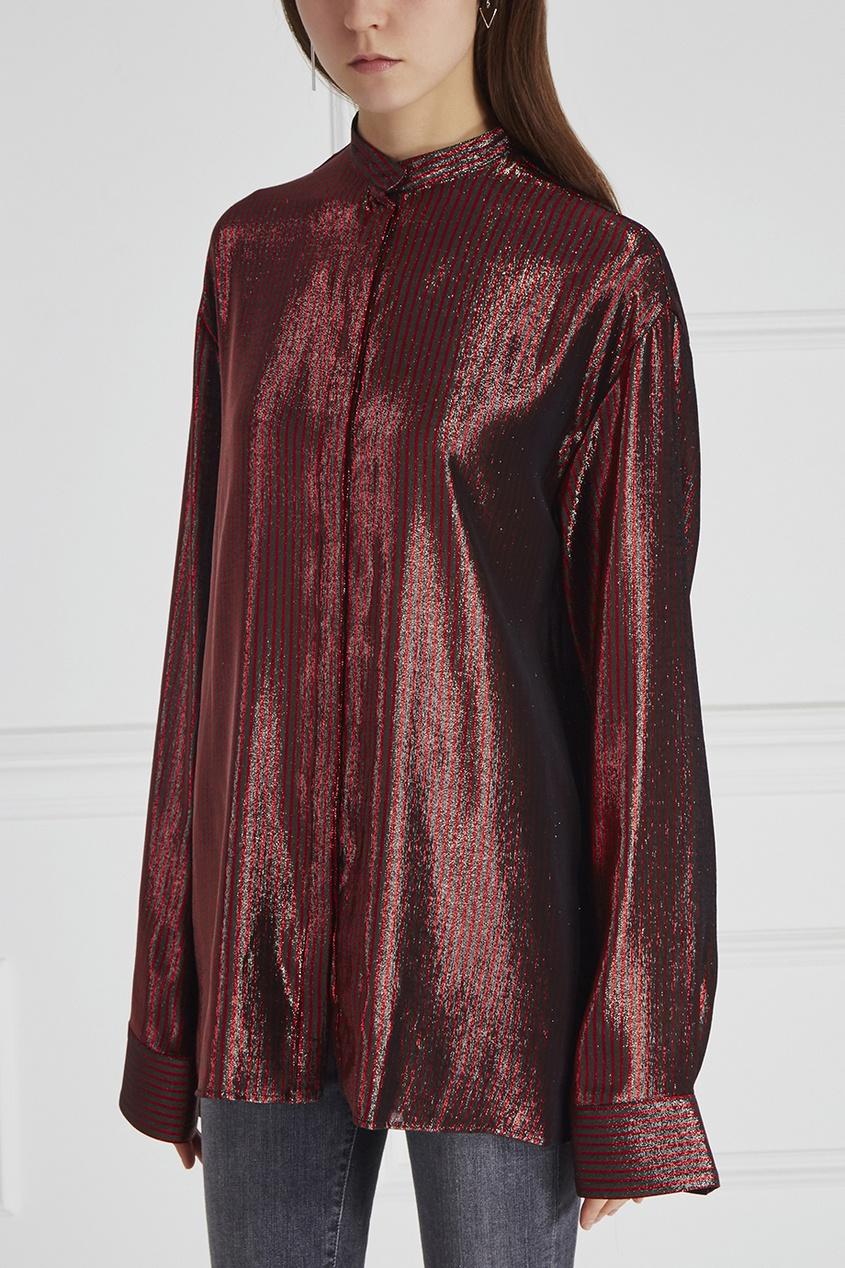 Блузка из шерсти и шелка
