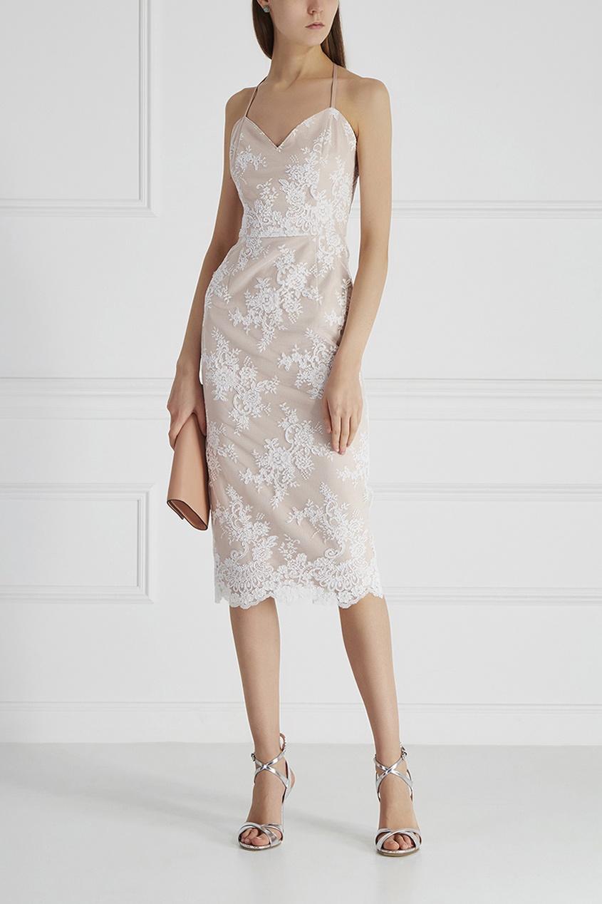 T-Skirt Платье-миди с кружевом