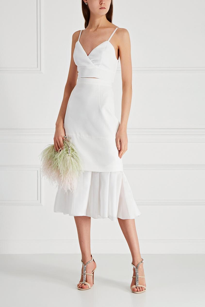 T-Skirt Клатч с перьями