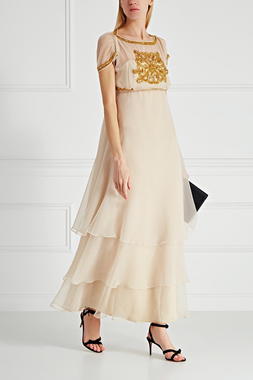Платье с вышивкой (70-е)