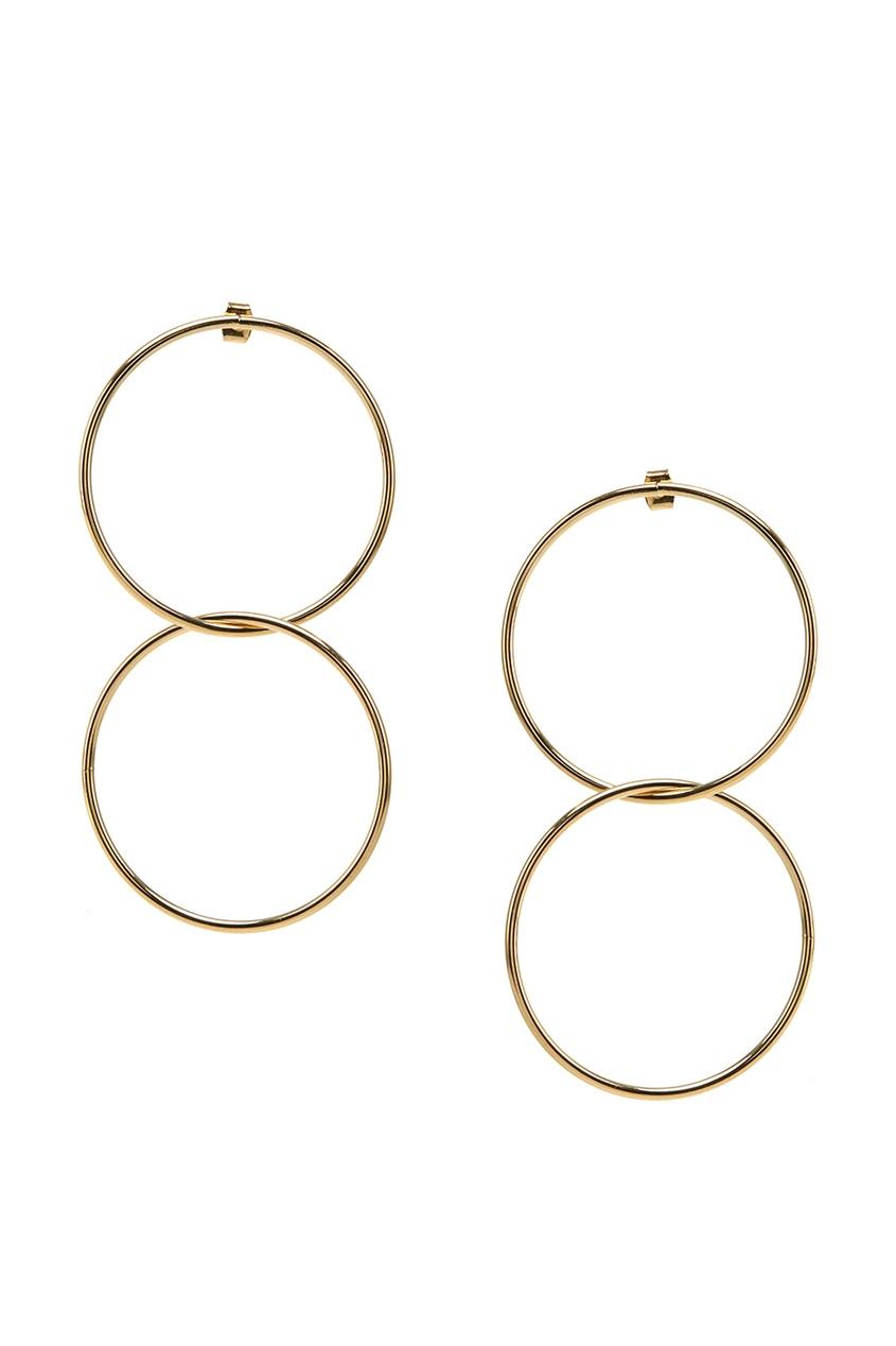 Золотистые серьги Hoop