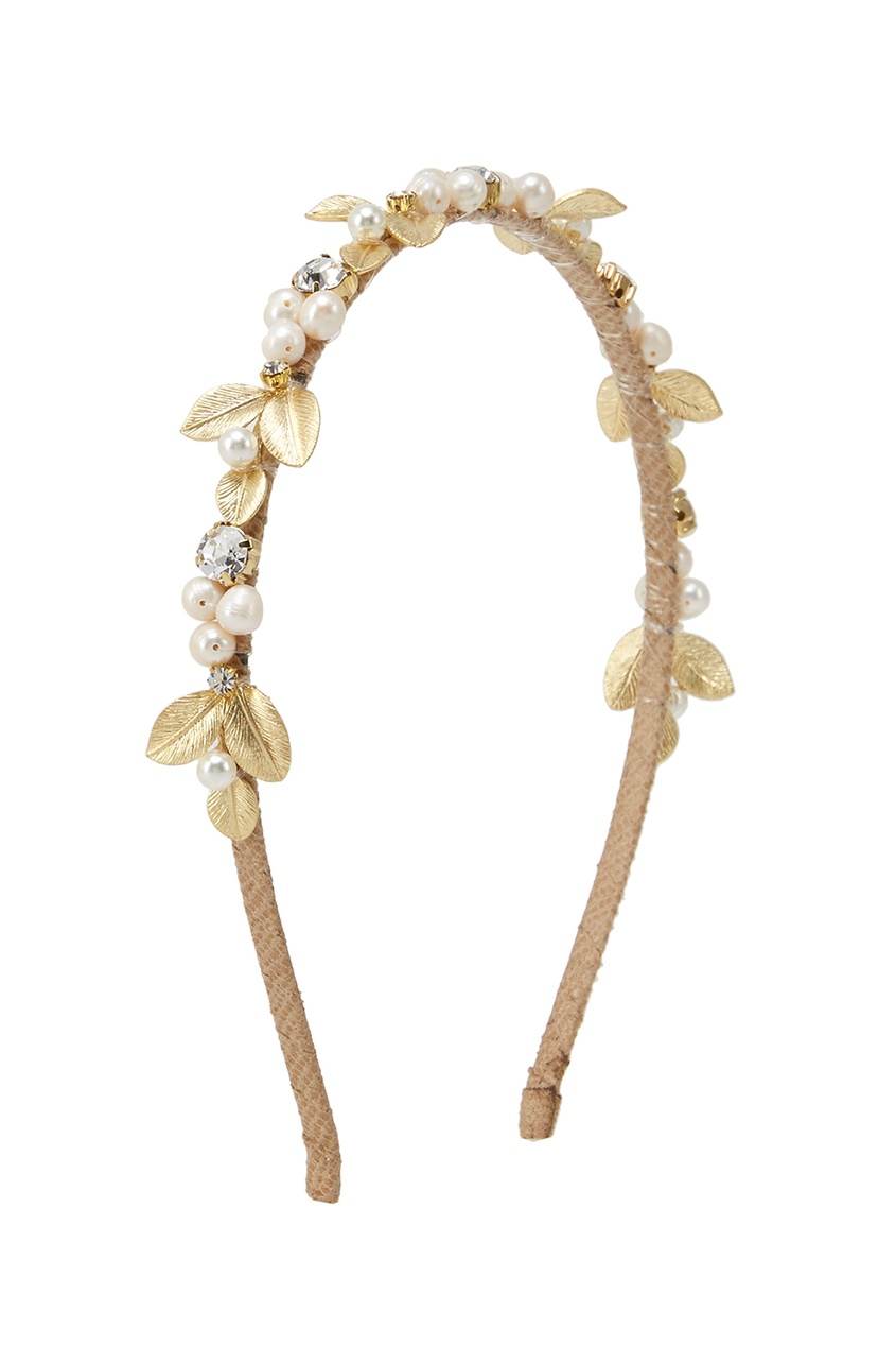 Lisa Smith Ободок с жемчугом и кристаллами