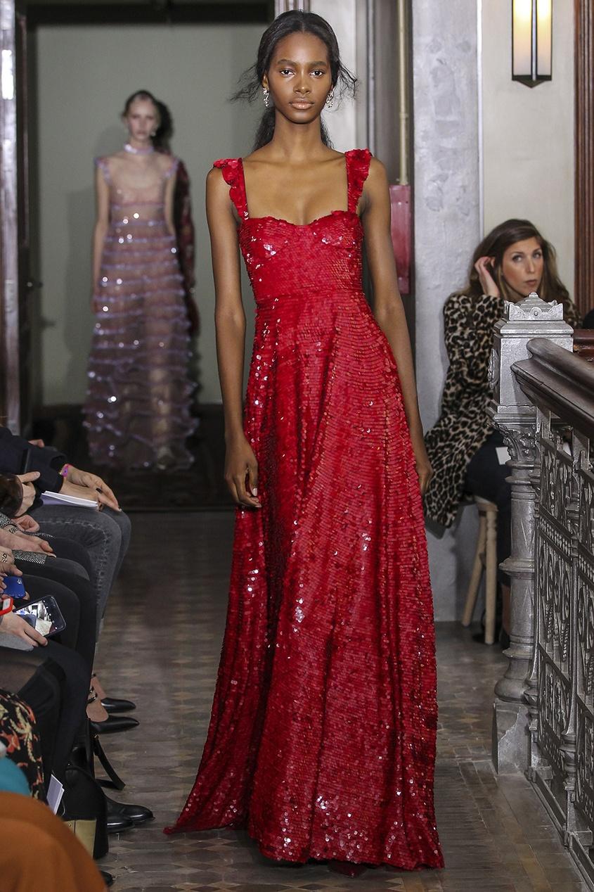 valentino платье от valentino 97598 Valentino Шелковое платье с пайетками